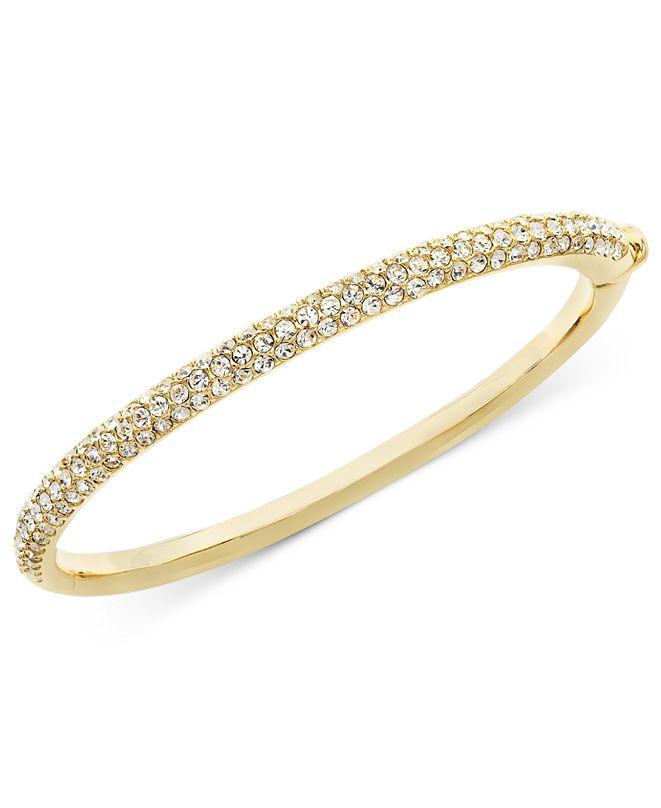 Eliot Danori Bracelet, Silver-Tone Crystal Bangle, Created for Macy's