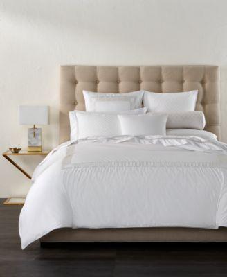 CLOSEOUT! Greek Key Cotton Platinum Standard Sham, Created for Macy's