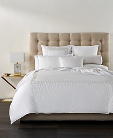 Hotel Collection Greek Key Platinum Duvet Covers, Created for Macy's