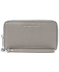 MICHAEL Michael Kors Mercer Pebble Leather Multi Function Phone Case
