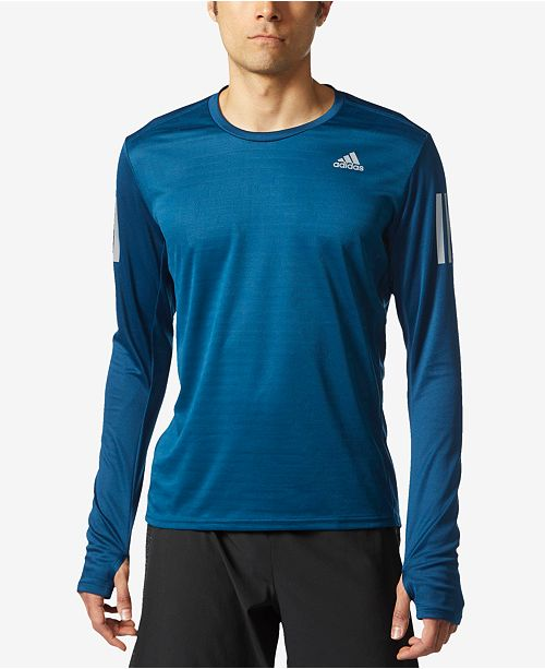 adidas Men s ClimaLite® Long-Sleeve Response Running Top - T-Shirts ... 488162750