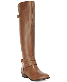 Material Girl Carleigh Tall Wide-Calf Riding Boots, Created for Macy's