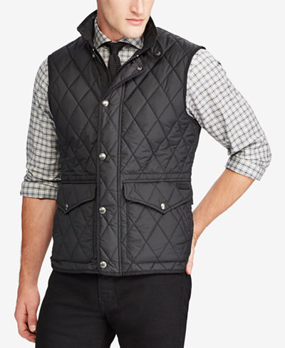 Polo Ralph Lauren Men's Big & Tall Iconic Quilted Vest - Coats ... : quilted vests for men - Adamdwight.com
