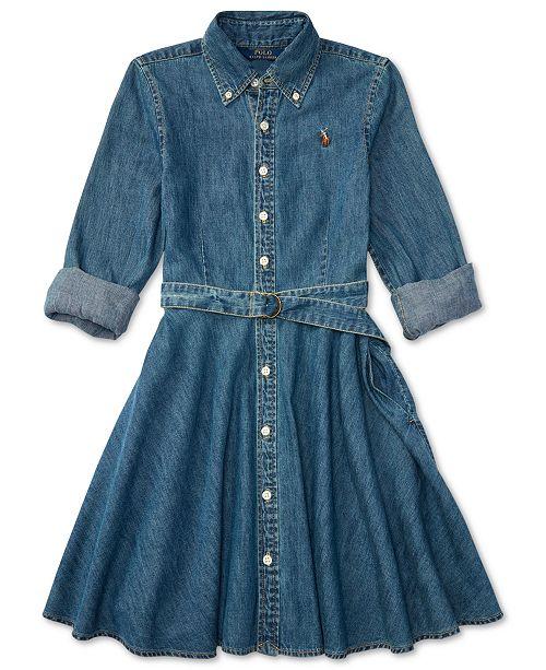 9e1aa2004552 Polo Ralph Lauren Ralph Lauren Denim Fit   Flare Cotton Shirtdress ...