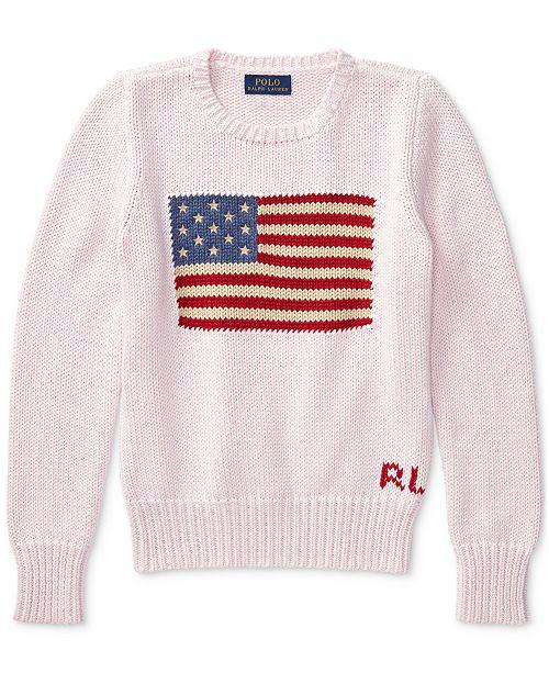 be101163fced Polo Ralph Lauren Ralph Lauren American Flag Knit Cotton Sweater ...