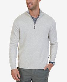 Nautica Men's Big & Tall Quarter-Zip Pullover Sweater