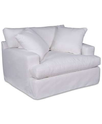 Brenalee Performance Fabric Chair and 1/2 Slipcover