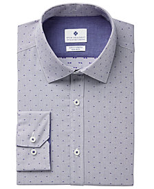 Ryan Seacrest Distinction™ Men's Slim-Fit Stretch Non-Iron Performance Pin Dot Dress Shirt, Created for Macy's