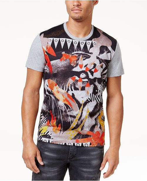 bb9901a05 Versace Jeans Men's Graphic Tiger Print T-Shirt & Reviews - T-Shirts ...