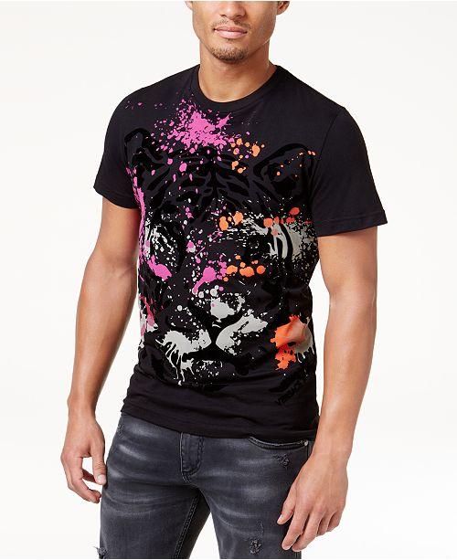 6621d0785860 Versace Jeans Men s Velvet Embossed Print T-Shirt   Reviews - T ...