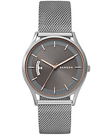 Skagen Men's Holst Silver Stainless Steel Mesh Bracelet Watch 40mm