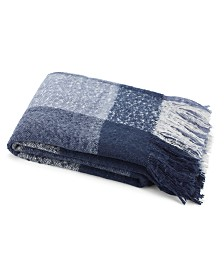 "CLOSEOUT! Nautica 50"" x 60"" Large Plaid Faux Fur Throw"