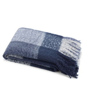 "Image of Nautica 50"" x 60"" Large Plaid Faux Fur Throw Bedding"