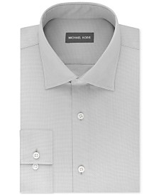 Michael Kors Men's Regular Fit Airsoft Stretch Non-Iron Performance Solid Dress Shirt
