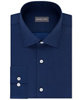 2934cdadae5 Michael Kors Men s Regular Fit Airsoft Stretch Non-Iron Performance Solid  Dress Shirt