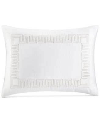 Greek Key Cotton Platinum Standard Sham, Created for Macy's