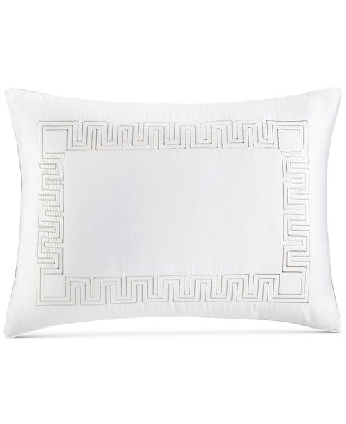 Hotel Collection Greek Key Cotton Platinum Standard Sham, Created for Macy's