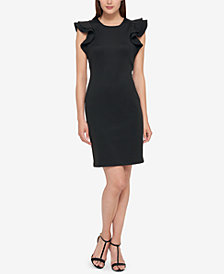 Tommy Hilfiger Ruffle-Sleeve Sheath Dress