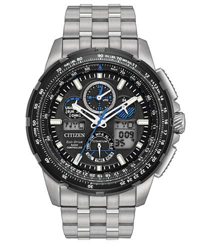 Citizen Eco-Drive Men's Analog-Digital Skyhawk A-T Titanium Bracelet Watch 47mm