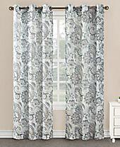 "Lichtenberg No. 918 Taya 40"" x 84"" Floral Paisley-Print Sheer Grommet Curtain Panel"