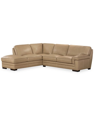 Myars 2-Pc. Leather Sectional w/ Chaise