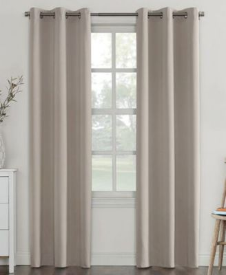 "CLOSEOUT! Campus Reversible 40"" x 95"" Fleece-Lined Energy-Efficient Blackout Grommet Curtain Panel"