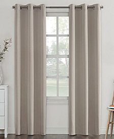 "CLOSEOUT! Sun Zero Campus Reversible 40"" x 63"" Fleece-Lined Energy-Efficient Blackout Grommet Curtain Panel"