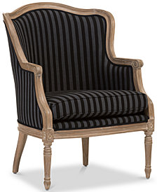 Karine French Accent Chair, Quick Ship