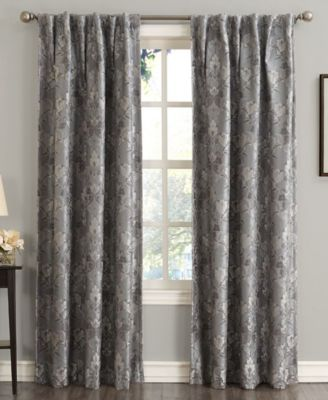 "Mayfield 54"" x 63"" Floral Blackout Rod Pocket Curtain Panel"