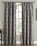 "Sun Zero Mayfield 54"" x 95"" Floral Blackout Rod Pocket Curtain Panel"