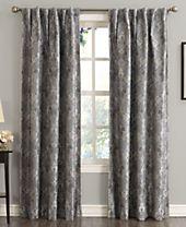 "Sun Zero Mayfield 54"" x 95"" Floral Blackout Rod Pocket Curtain Panel"