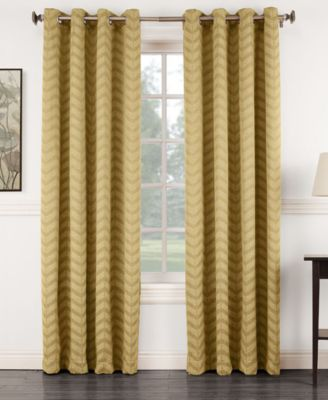 "Ramsey 50"" x 84"" Jacquard Blackout Grommet Curtain Panel"