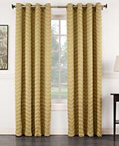"Sun Zero Ramsey 50"" x 84"" Jacquard Blackout Grommet Curtain Panel"