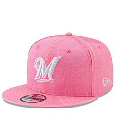 New Era Milwaukee Brewers Neon Time 9FIFTY Snapback Cap