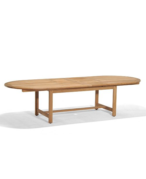 Furniture Bristol Teak 118 X 47 Outdoor Extension Dining Table
