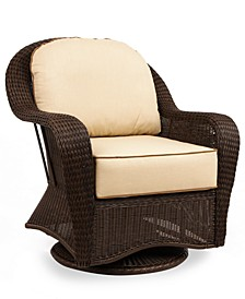 Monterey Wicker Outdoor Swivel Glider with Sunbrella® Cushion, Created for Macy's