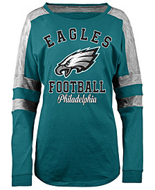 5th & Ocean Women's Philadelphia Eagles Space Dye Long Sleeve T-Shirt