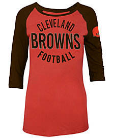 5th & Ocean Women's Cleveland Browns Rayon Raglan T-Shirt