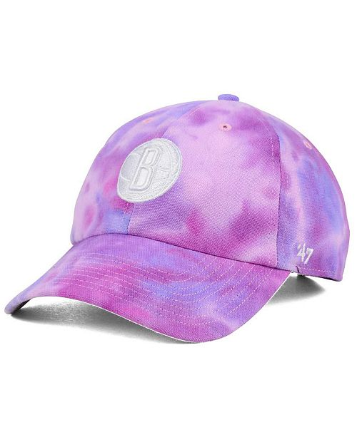 '47 Brand Brooklyn Nets Pink Tie-Dye CLEAN UP Cap