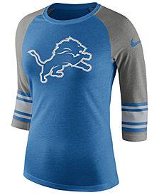 Nike Women's Detroit Lions Stripe Raglan Triblend T-Shirt