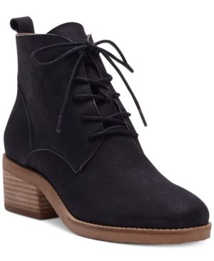 Lucky Brand Tamela Lace-Up Booties Women