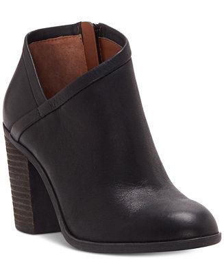 Lucky Brand Women S Salza Block Heel Booties Boots