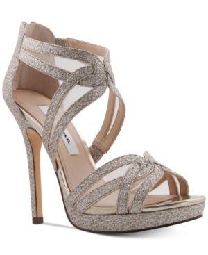 Nina Fayette Platform Evening Sandals Women's Shoes 6600264