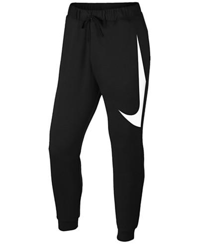 Nike Men's Mixed Media Logo Sweatpants