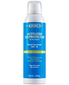 Kiehl's Since 1851 Activated Sun Protector Sunscreen Lotion Spray For Body SPF 50, 5-oz.