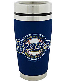 Hunter Manufacturing Milwaukee Brewers 16oz Stainless Steel Travel Tumbler