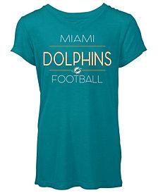 5th & Ocean Women's Miami Dolphins Rayon V T-Shirt