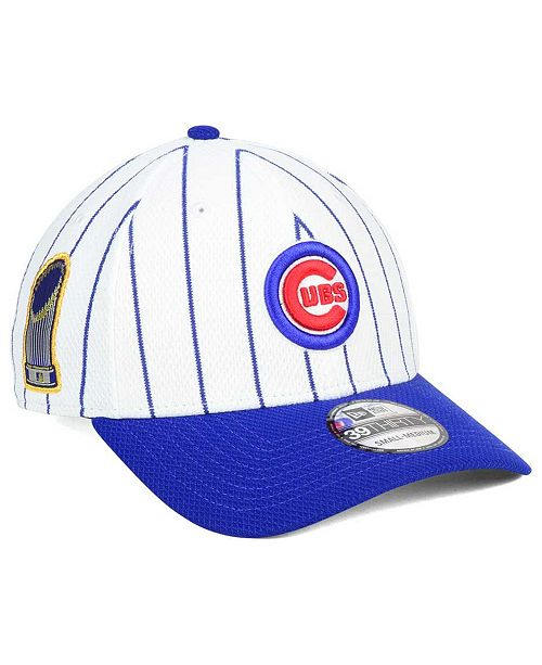 fbf36a5aab9 ... New Era Chicago Cubs World Series Pinstripe 39THIRTY Cap ...