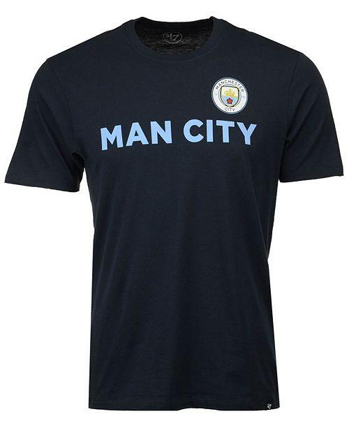 '47 Brand Men's Manchester City Club Team Logo Splitter T-Shirt