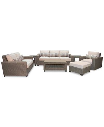 Del Mar 7-Pc. Set (1 Sofa, 1 Loveseat, 1 Swivel Club Chair, 1 Ottoman, 1 Coffee Table & 2 End Tables), Created for Macy's